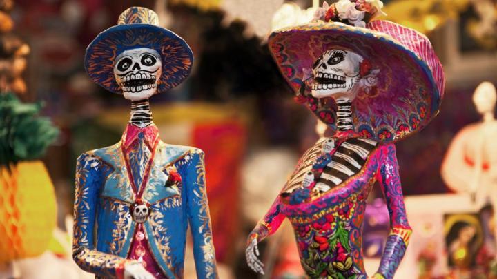 Mexico Pareja Día muertos